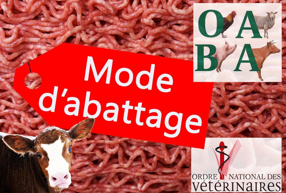 Étiquetage des modes d'abattage : l'Ordre des vétérinaires salue la démarche de l'OABA