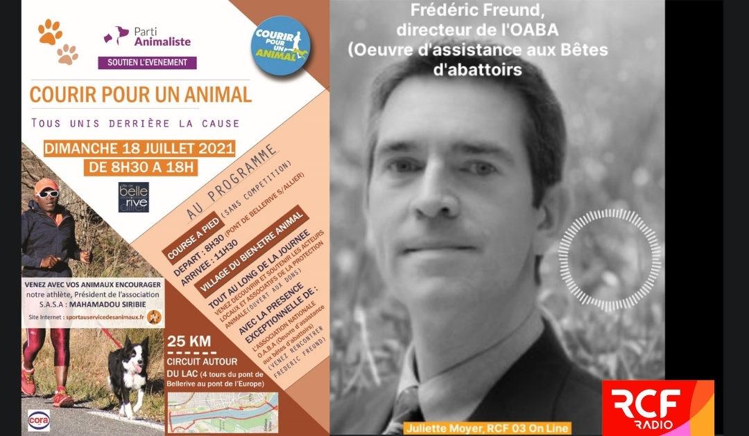 """L'OABA sur RCF à l'occasion du premier """"village du bien-être animal"""""""